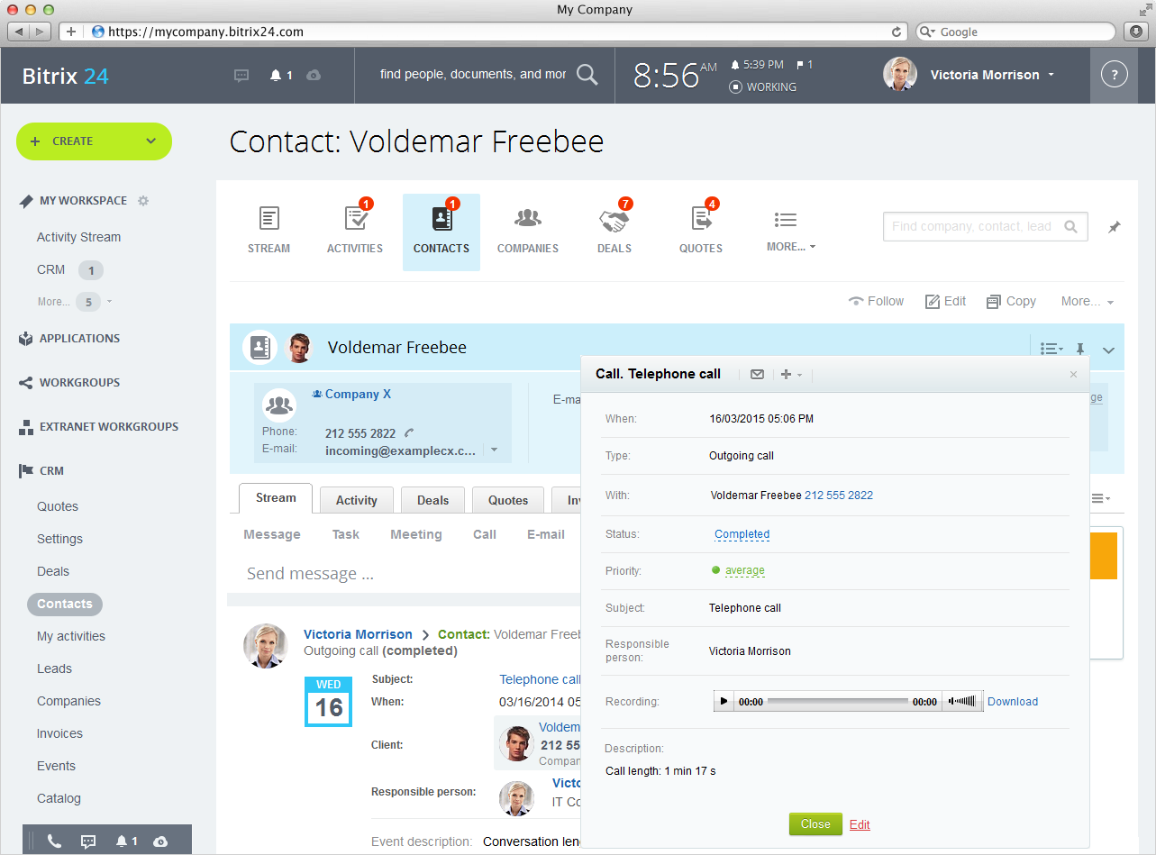 Bitrix Your Company United - Open source invoice management